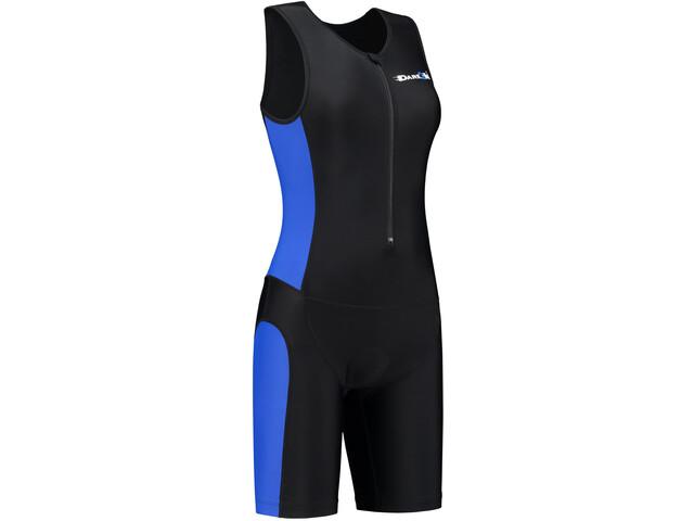 Dare2Tri Frontzip Trisuit Damen black-blue